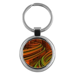 Science Fiction Technology Key Chains (round)  by Celenk
