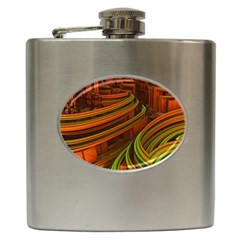 Science Fiction Technology Hip Flask (6 Oz) by Celenk
