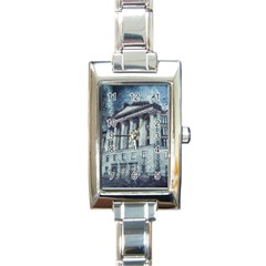 Storm Rain Lightning Weather Rectangle Italian Charm Watch by Celenk