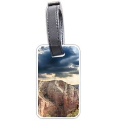 Nature Landscape Clouds Sky Rocks Luggage Tags (one Side)  by Celenk