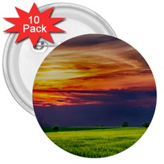 Countryside Landscape Nature Rural 3  Buttons (10 Pack)