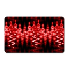 Red And Black Wave Pattern Magnet (rectangular)