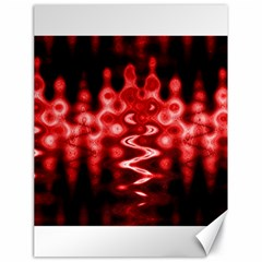 Red And Black Wave Pattern Canvas 18  X 24