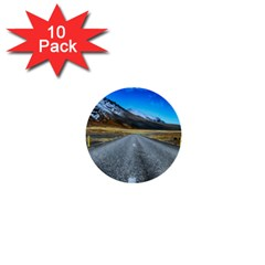 Road Mountain Landscape Travel 1  Mini Buttons (10 Pack)  by Celenk