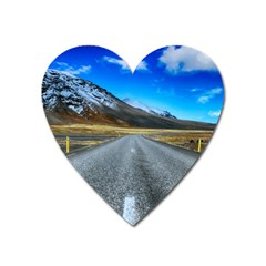 Road Mountain Landscape Travel Heart Magnet
