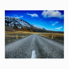 Road Mountain Landscape Travel Small Glasses Cloth