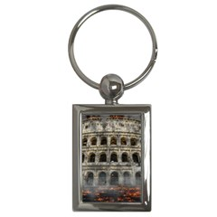Colosseum Italy Landmark Coliseum Key Chains (rectangle)