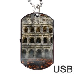 Colosseum Italy Landmark Coliseum Dog Tag Usb Flash (one Side) by Celenk