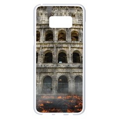 Colosseum Italy Landmark Coliseum Samsung Galaxy S8 Plus White Seamless Case by Celenk