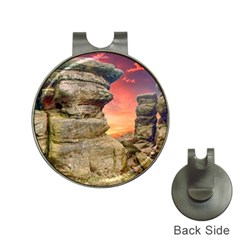 Rocks Landscape Sky Sunset Nature Hat Clips With Golf Markers
