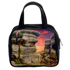 Rocks Landscape Sky Sunset Nature Classic Handbags (2 Sides)