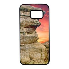 Rocks Landscape Sky Sunset Nature Samsung Galaxy S7 Black Seamless Case by Celenk