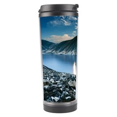 Shore Mountain Water Landscape Travel Tumbler by Celenk