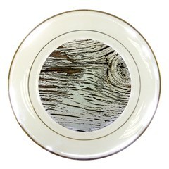 Wood Knot Fabric Texture Pattern Rough Porcelain Plates