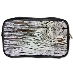 Wood Knot Fabric Texture Pattern Rough Toiletries Bags by Celenk