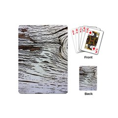 Wood Knot Fabric Texture Pattern Rough Playing Cards (mini)  by Celenk