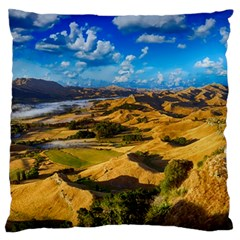 Hills Countryside Landscape Rural Standard Flano Cushion Case (one Side) by Celenk