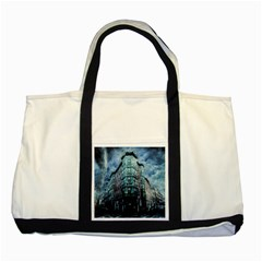 Storm Weather Thunderstorm Nature Two Tone Tote Bag