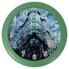 Storm Weather Thunderstorm Nature Color Wall Clocks by Celenk