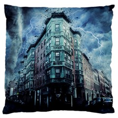 Storm Weather Thunderstorm Nature Large Flano Cushion Case (one Side) by Celenk