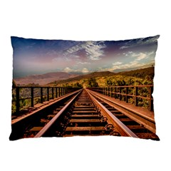 Railway Track Travel Railroad Pillow Case (two Sides)