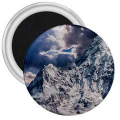 Mountain Snow Winter Landscape 3  Magnets by Celenk