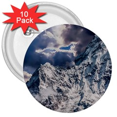 Mountain Snow Winter Landscape 3  Buttons (10 Pack)  by Celenk