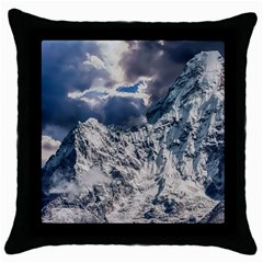 Mountain Snow Winter Landscape Throw Pillow Case (black)