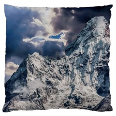 Mountain Snow Winter Landscape Large Flano Cushion Case (two Sides)