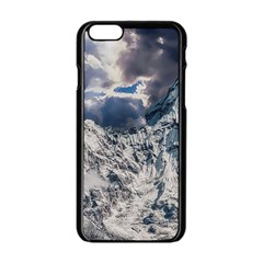 Mountain Snow Winter Landscape Apple Iphone 6/6s Black Enamel Case by Celenk