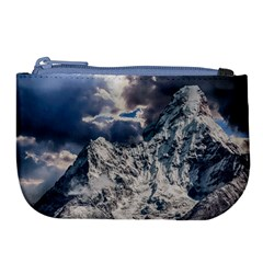 Mountain Snow Winter Landscape Large Coin Purse