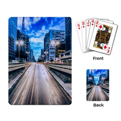 Urban Street Cityscape Modern City Playing Card by Celenk