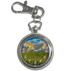 Sunrise Hills Landscape Nature Sky Key Chain Watches by Celenk