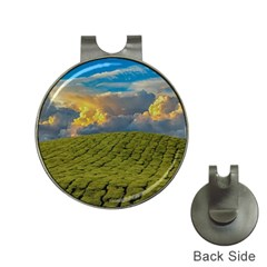 Sunrise Hills Landscape Nature Sky Hat Clips With Golf Markers