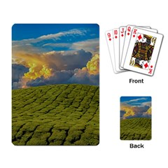 Sunrise Hills Landscape Nature Sky Playing Card by Celenk