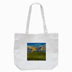 Sunrise Hills Landscape Nature Sky Tote Bag (white) by Celenk