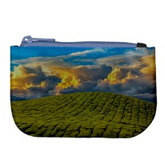 Sunrise Hills Landscape Nature Sky Large Coin Purse