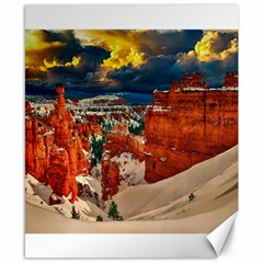 Snow Landscape Winter Cold Nature Canvas 8  X 10  by Celenk