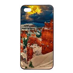 Snow Landscape Winter Cold Nature Apple Iphone 4/4s Seamless Case (black) by Celenk
