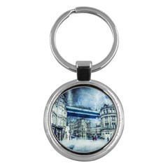 Storm Weather Nature Thunderstorm Key Chains (round)  by Celenk
