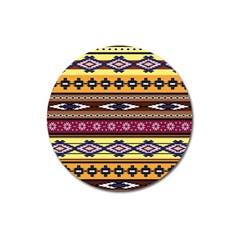 Colorful Tribal Art   Boho Pattern Magnet 3  (round) by tarastyle