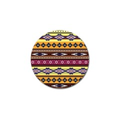 Colorful Tribal Art   Boho Pattern Golf Ball Marker (10 Pack) by tarastyle