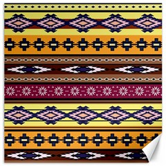 Colorful Tribal Art   Boho Pattern Canvas 12  X 12   by tarastyle