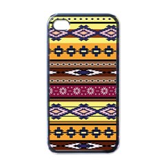Colorful Tribal Art   Boho Pattern Apple Iphone 4 Case (black) by tarastyle