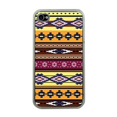 Colorful Tribal Art   Boho Pattern Apple Iphone 4 Case (clear) by tarastyle