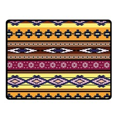 Colorful Tribal Art   Boho Pattern Double Sided Fleece Blanket (small)  by tarastyle
