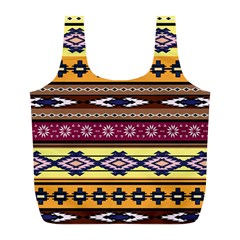 Colorful Tribal Art   Boho Pattern Full Print Recycle Bags (l)  by tarastyle