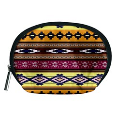 Colorful Tribal Art   Boho Pattern Accessory Pouches (medium)  by tarastyle