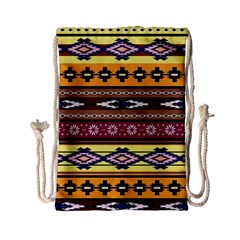 Colorful Tribal Art   Boho Pattern Drawstring Bag (small) by tarastyle