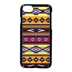 Colorful Tribal Art   Boho Pattern Apple Iphone 7 Seamless Case (black) by tarastyle